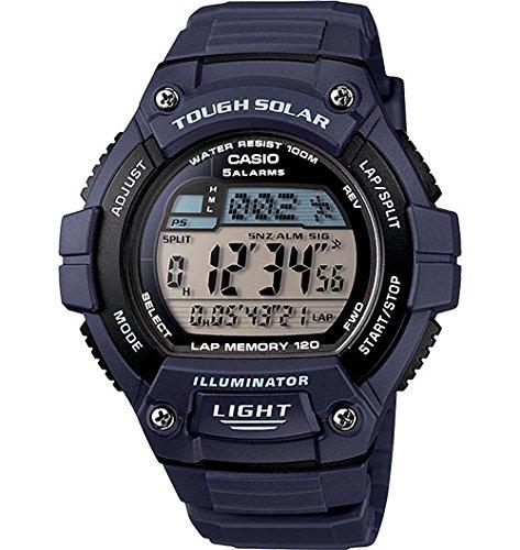 Casio Men'S W-S220-2Avcf Tough Solar Digital Display Quartz Black Watch