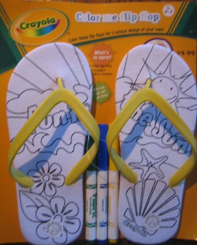 Crayola Color Me Flip Flips Size Large 2-3 (Yellow) back-1044811