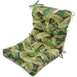 Greendale Home Fashions Outdoor Seat/Back Chair Cushion, Palm Green