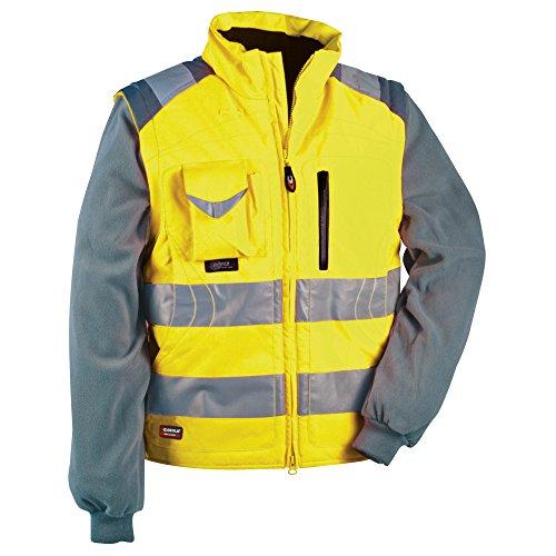 Cofra Signal - Giacca e gilet ad alta visibilità, 2 in 1, colore: giallo fluorescente, 40-00V02300-62