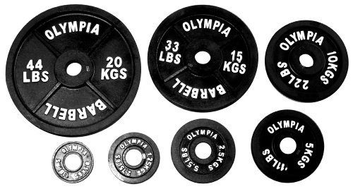 Ader-Olympic-1085-Kgs-240-Lbs-7-Pairs-Set-w-Olympic-Curl-Bar-Collars