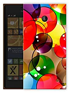"Humor Gang Colorful Bubbles Printed Designer Mobile Back Cover For ""Nokia Lumia 730"" (3D, Matte, Premium Quality Snap On Case)"