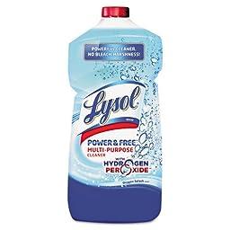 LYSOL Brand Power & Free Multi-Purpose Cleaner Pour Bottle, Oxygen Splash, 28oz Bottle - six 28-oz bottles.
