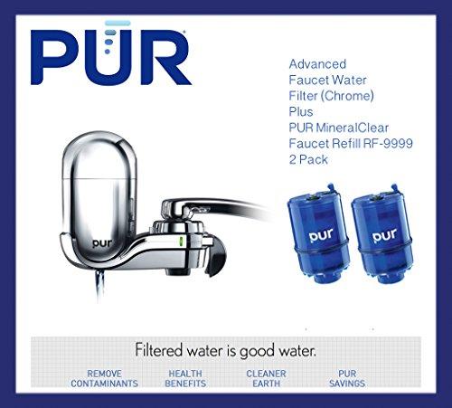 pur advanced faucet water filter chrome fm3700b plus faucet