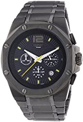 ESPRIT Mens Clear Octo Anthracite Quartz Stainless Steel Casual Watch, Color-Black (Model- ES102881007)