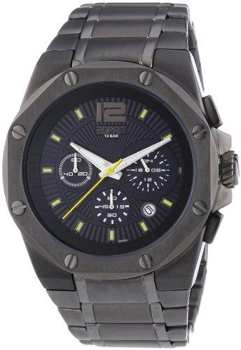 Esprit Herren-Armbanduhr Clear Octo Antracite Chronograph Quarz Edelstahl ES102881007