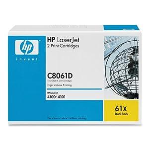 HP LaserJet 61X Black Print Cartridge in Retail Packaging - Dual Pack