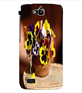 ColourCraft Flowers Back Case Cover for HUAWEI HONOR HOLLY