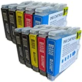 10 CiberDirect Compatible Ink Cartridges for use with Brother MFC-5860CN Printers.