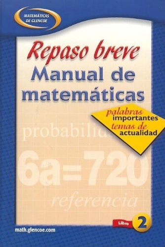 Quick Review Math Handbook: Hot Words, Hot Topics, Book 2, Spanish Student Edition (Spanish Edition)
