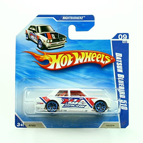 DATSUN BLUEBIRD 510 (105/214) Short Card Package Hot Wheels 2010 HW NIGHTBURNERZ SERIES (09/10) 1:64 Scale Die-Cast Vehicle (Super Treasure Hunt Datsun compare prices)