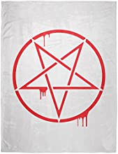 Bloody Pentagram Soft Plush Blanket