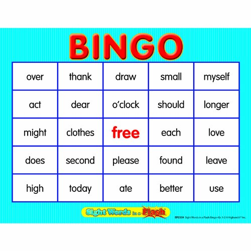 Edupress EP-2339 Sight Words In A Flash Bingo Gr 1-2