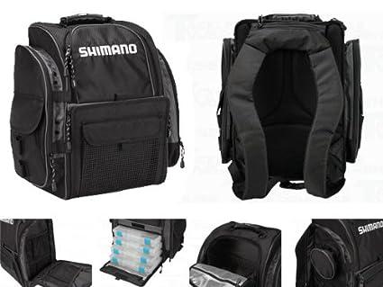 Shimano blackmoon fishing backpack medium blmbp270bk for Shimano fishing backpack