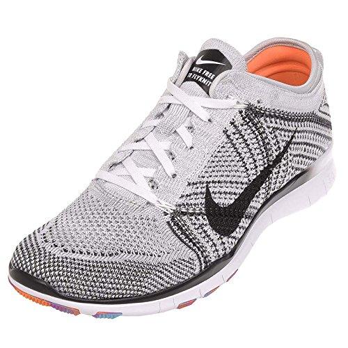 Women's Nike Free TR Flyknit White Black Pure Platinum Hyper Violet 718785-100 (11)