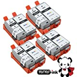YoYoInk Compatible Ink Cartridges Replacement for Canon PGI 35 PGI35 PGI-35 & CLI 36 CLI36 CLI-36 8 Pack (4 Black 4 Color) - With Ink Level Display Indicator Canon Pixma iP100
