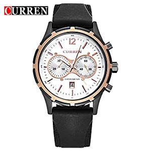 CURREN 2016 New Fashion Men's Watch Sport Waterproof Quartz Date WristWatch 8066G