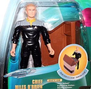 CHIEF MILES O'BRIEN Star Trek: Deep Space Nine 1998 Warp Factor Series 2 Action Figure & Deluxe U.S.S. Defiant Engineering Station