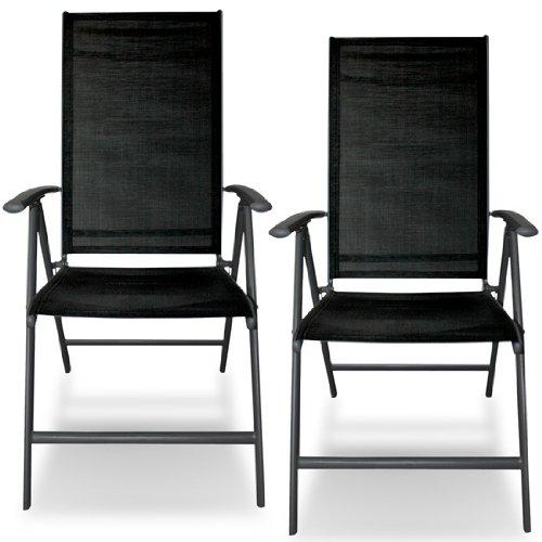 jago alst01 gartenstuhl 2er set aluminium dunkelgrau klappbar 55 x 67 x 110 cm b x t x h. Black Bedroom Furniture Sets. Home Design Ideas