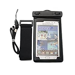Evana Underwater Selfie Pouch Bag 100% Waterproof Super Touch Universal Mobile Tight Seal Cover For Swimming Water Sports Diving (suitable for all smartphones Iphone 5 6 6S 5SE Samsung S6 S7 ON5 J7 J3 Oneplus X)
