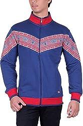 UCC Men's Fleece Regular Fit Sweatshirts (UCC7024BLUE-XXL)