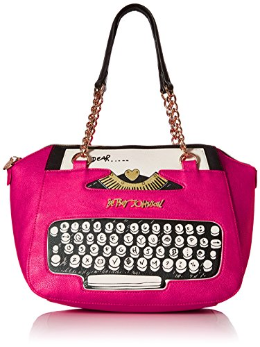 Betsey Johnson BJ50085 Top Handle Bag, Fuchsia, One Size