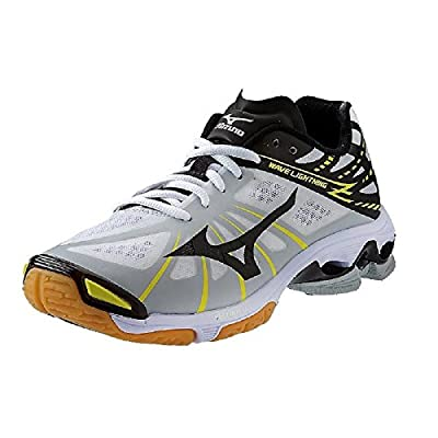 Mizuno Men's Wave Lightning Z Volleyball Shoes - White & Black