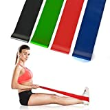 AGPtEK Durable Natural Lateral 4 Colorful Resistence Levels Strength Fitness Exercise Loop Bands - Best for Stretch Therapy Running Preparation Pilates Rehabilitation Home Gym