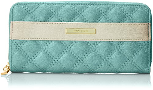Anne Klein Shimmer Down II Zip Around Wallet, Celeste, One Size