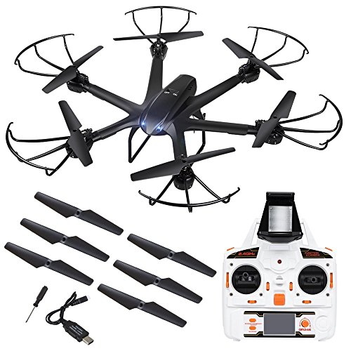 DBPOWER 2.4GHz Wireless FPV 3D Flip 6-Axis Hexacopter Professional Drones Quadcopter RC Helicopter Drone With Camera 0.3MP Dron