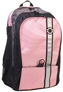 DadGear Backpack Diaper Bag - Pink Retro Stripe by Dad Gear