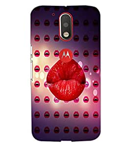 Printdhaba Lips D-4370 Back Case Cover For Motorola Moto G4 Plus