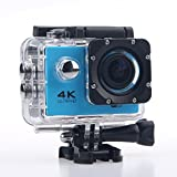 Ultra 4K Wifi Waterproof Sports Action Camera F60 Helmet Cam Recorder Marine Diving 2.0 Lcd 170 Degree Wide Lens With Two Batteries - Blue