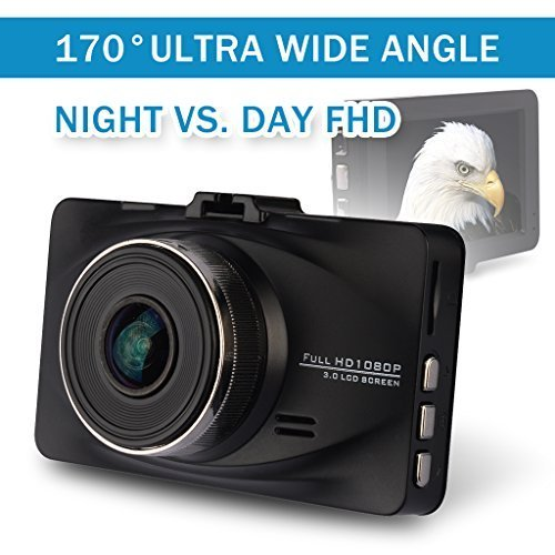 Car DVR 1920*1080 WDR Superior Quality Night Vision Mode Motoraux Full-HD 170° Wide Angle Dashcam Car Dashboard with G-sensor 6-glass Lens