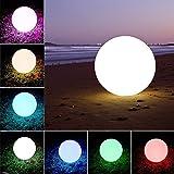 Giwox Außenleuchte aufladbare LED-Licht, schnurlose Stimmungslicht mit 16 Farbwechsel durch RGB Fernbedienung für Home Party Deko und mehr (Ball)