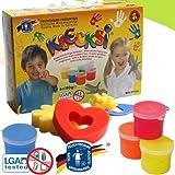 Feuchtmann 633-0626 Kinder Fingermalfarben Klecksi 6 Dosen je 150 gr., kindgerechte Malfarben für Finger und Pinsel, wasserlöslich, Allergiker geeignet hergestellt von matches21