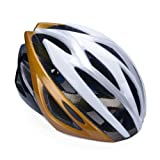 Gold Adult Bike Helmet with EPS+PVC shell