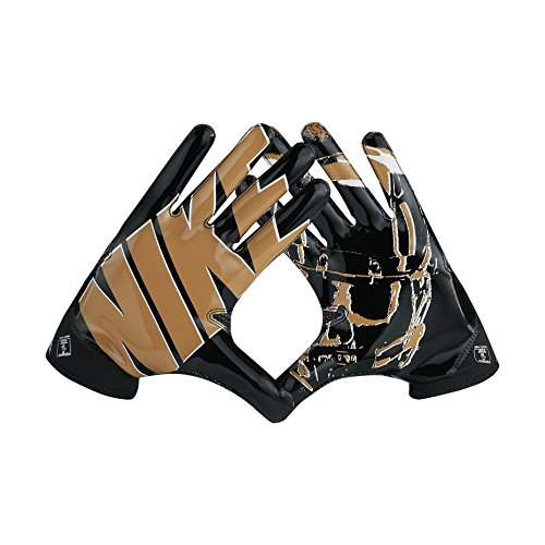 Nike Superbad 4 American Football Handschuhe Receiver - Black/Gold/White