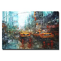 Times Square Reflections by Mark Lague Premium Gallery-Wrapped Canvas Giclee Art (Ready-to-Hang)