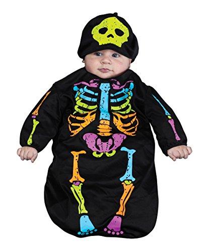 Morris Costumes Skelebaby Bunting 0-9 Mo