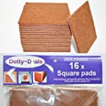 16x square self adhesive felt floor p...