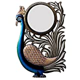 Ghanshyam Art Wood Peacock Wall Mirror (30.48 Cm X 4 Cm X 45.72 Cm, GAC085)