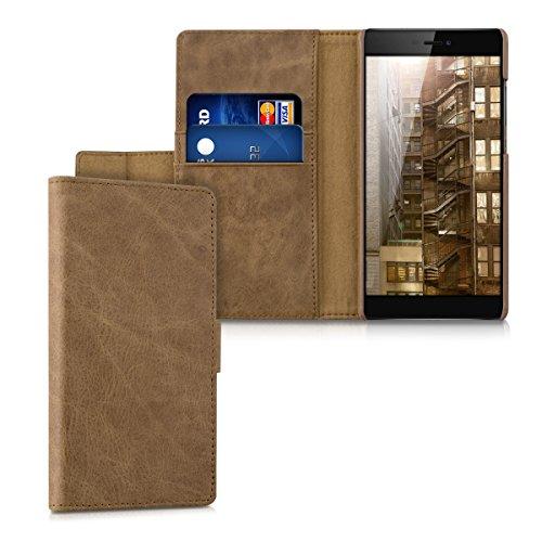 kalibri-Leder-Hlle-James-fr-Huawei-P8-Echtleder-Schutzhlle-Wallet-Case-Style-mit-Karten-Fchern-in-Cognac