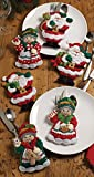 Bucilla Santa & Mrs. Silverware Holders Felt Applique...