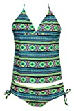 Billie Niñas ola de calor Tankini swimsuit-aquamarine-6 X color: aguamarina Tamaño: 6 x (Baby/Babe/Infant - Little Ones)