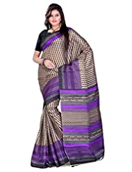 Cenizas Cotton Silk Saree (3306 Purple)