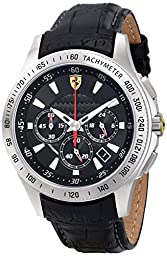 Ferrari Men\'s 0830039 Scuderia Analog Display Quartz Black Watch