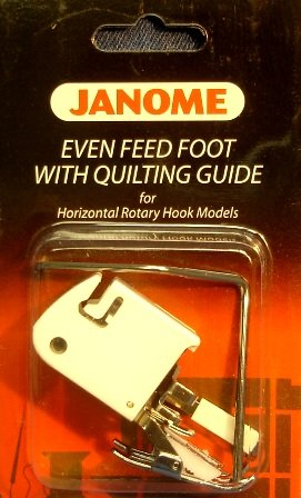 Janome Even Feed Foot with Quilting Guide Horizontal Rotary Hook Models (Janome Machine Accessories compare prices)