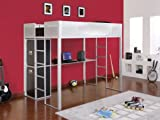 Powell Rock & Roll Balck Full Study Loft Bunk Bed