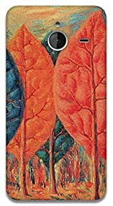 The Racoon Lean The Fire - Magritte hard plastic printed back case / cover for Microsoft Lumia 640 XL